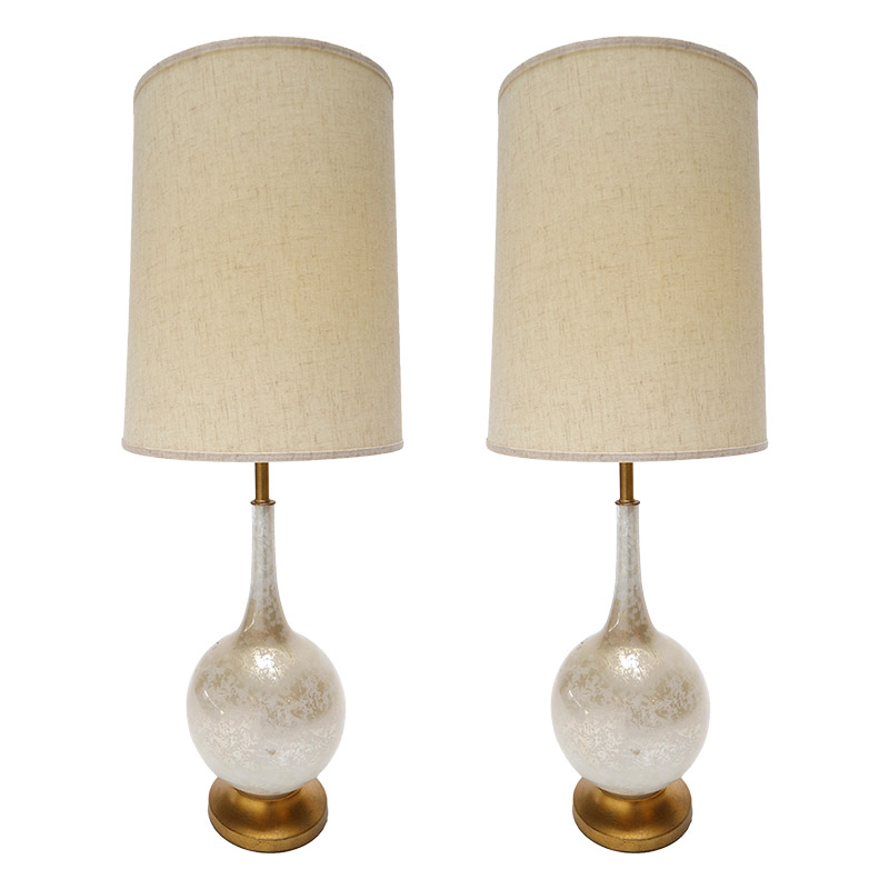 Pair of 1960s murano glass table lamps with brass base adesso imports pair of 1960s murano glass table lamps with brass base aloadofball Gallery