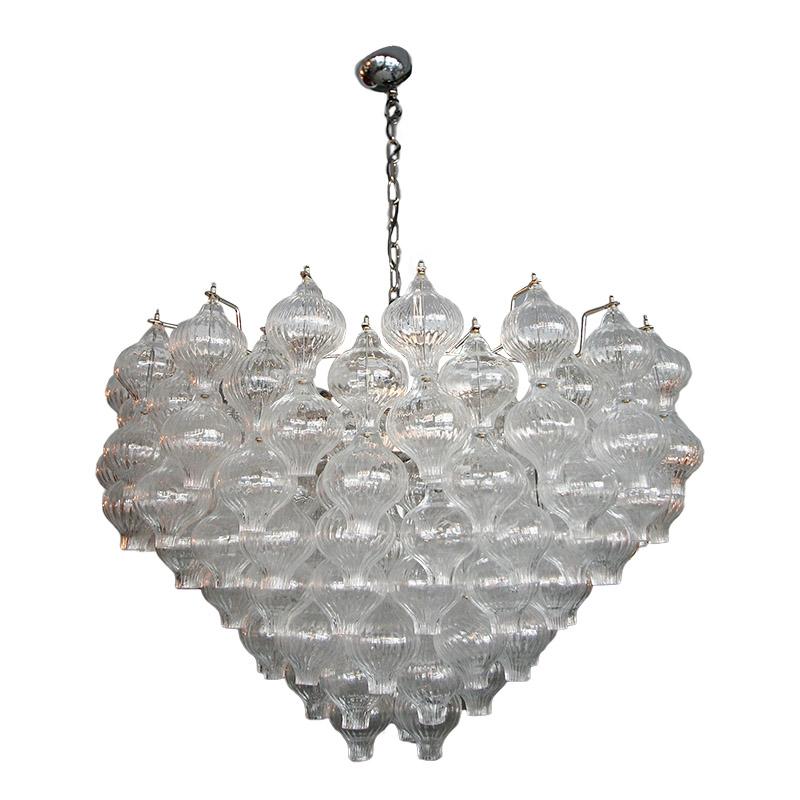 Murano glass 1960s tulip chandelier adesso imports murano glass 1960s tulip chandelier aloadofball Choice Image