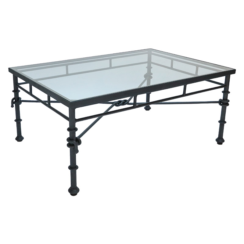 Coffee Table Glass Top Cover: Italian Rectangular Iron Coffee Table With Glass Top
